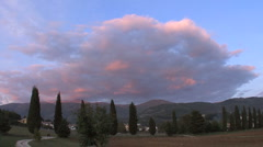Italy Gran Sasso Abruzzo pink cloud Stock Footage