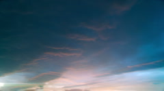 Time-lapse storm clouds in moody colorful sky. Stock Footage