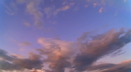 Time-lapse clouds in blue sky. Stock Footage