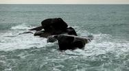 Granitic  Rocks, Big Waves, Tropical Paradise Island, Ko Samui, Amazing Thailand Stock Footage