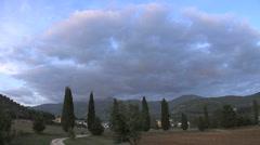 Italy Gran Sasso Abruzzo evening Stock Footage