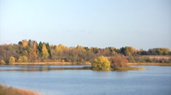 Autumn lake Stock Footage