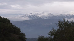 Italy Abruzzo National Park snowcap Stock Footage