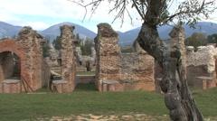 Pans Amiternum Roman ruins in Italy Stock Footage