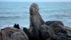 The Symbol of Male Sex, Grand Father Rock (Hin Ta Hin Yai), Granitic  Rocks Stock Footage