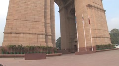 India Gate War Memorial, Delhi - stock footage