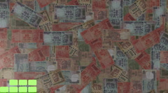 Graph with Indian Rupees animation Stock Footage