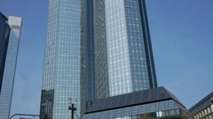 DeutscheBank Towers Frankfurt Stock Footage