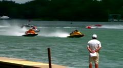 APBA outboard hydroplane race  Stock Footage