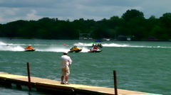 APBA outboard hydroplane race  Stock Footage