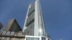 Commerzbank Tower Frankfurt Stock Footage