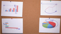 Stock Video Footage of HD: a person leaves a sheet of paper on the pinboard