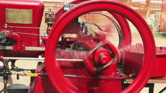 Red engine 02 Stock Footage