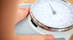 Feet on Weighing Scales - stock footage