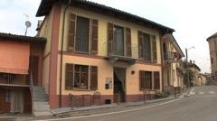 Grinzane Cavour street scene Piedmont Stock Footage