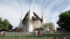 Mormon Temple Las Vegas P HD 9267 - stock footage