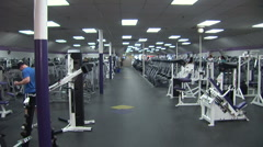 Gym inside wide Stock Footage