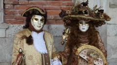 Venice Carnival portraits Stock Footage