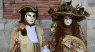 Venice Carnival portraits Stock Footage