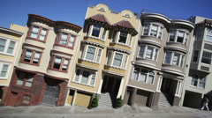 San Francisco Hill slanted Stock Footage