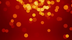 Elegant red background bokeh glittering - stock footage