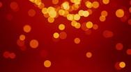Elegant red background bokeh glittering Stock Footage