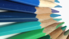 Stock Video Footage of Color pencils rotating