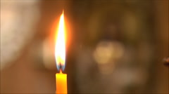Candle in the soft background Stock Footage