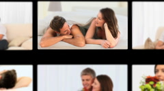 Montage of couples spending time together Stock Footage