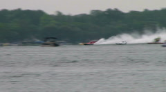 Hydroplane race  Stock Footage