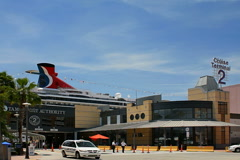 Cruise terminal at Port of Tampa Stock Footage