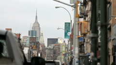 Houston Street in New York City - Empire State Building Stock Footage