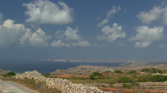 Time lapse Malta Island Stock Footage