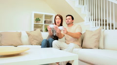 Young Couple Playing Electronic Games Stock Footage