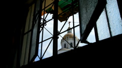 Church Through Window Tlapacoyan, Veracruz-Mexico Stock Footage