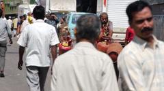 Mumbai street gas wagon P - stock footage