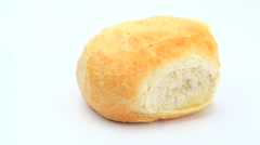 White bread roll rotating Stock Footage