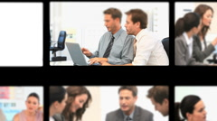Montage of business people during meetings - stock footage