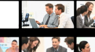 Montage of business people during meetings Stock Footage