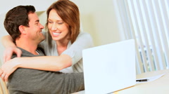 Young Couple Success With Financial Planning - stock footage