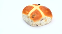 Hot cross bun rotating Stock Footage