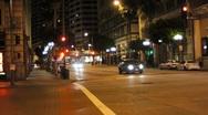 Los Angeles At Night Series Stock Footage