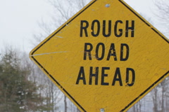 Rough road ahead. SD. Stock Footage