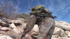 Arizona Hiker Stock Footage