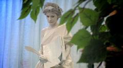 living sculpture - stock footage