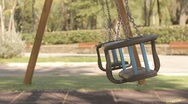 Swing - loneliness, abandonment, desolation Stock Footage