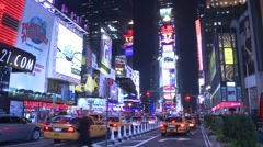 Stock Video Footage of Times Square Timelapse 2