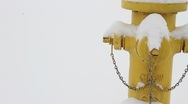 Fire hydrant In Snow Stock Footage