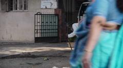 Mumbai street old man P2 Stock Footage