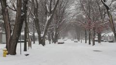 Snowy Street 2 Stock Footage